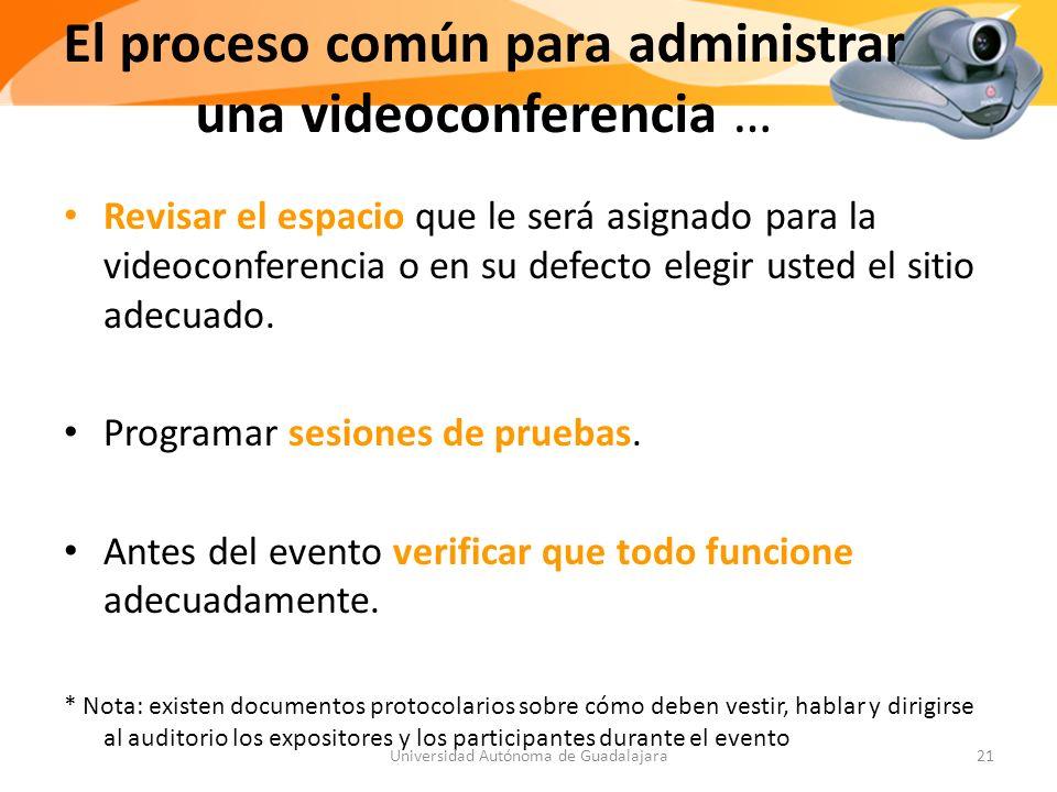 Revisar el espacio que le será asignado para la videoconferencia o en su defecto elegir usted el sitio adecuado.