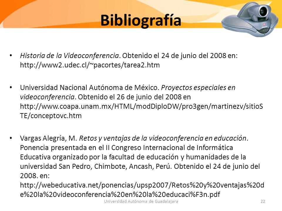 Bibliografía Historia de la Videoconferencia.