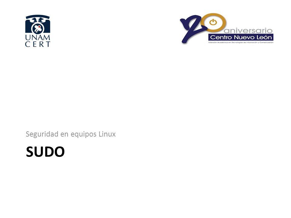SUDO Seguridad en equipos Linux