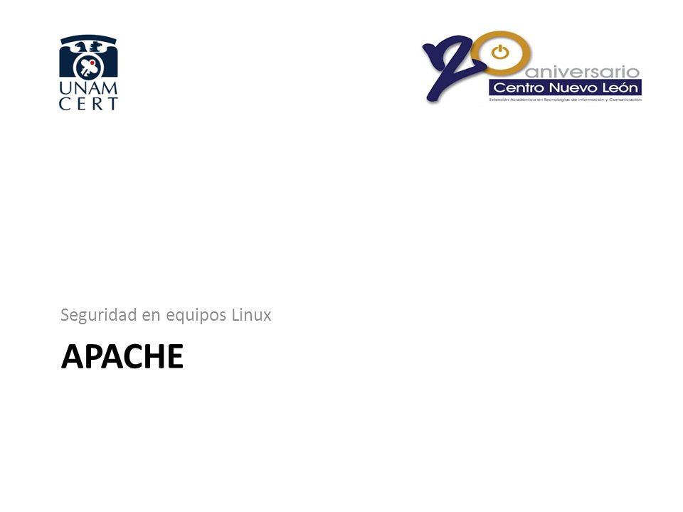 APACHE Seguridad en equipos Linux
