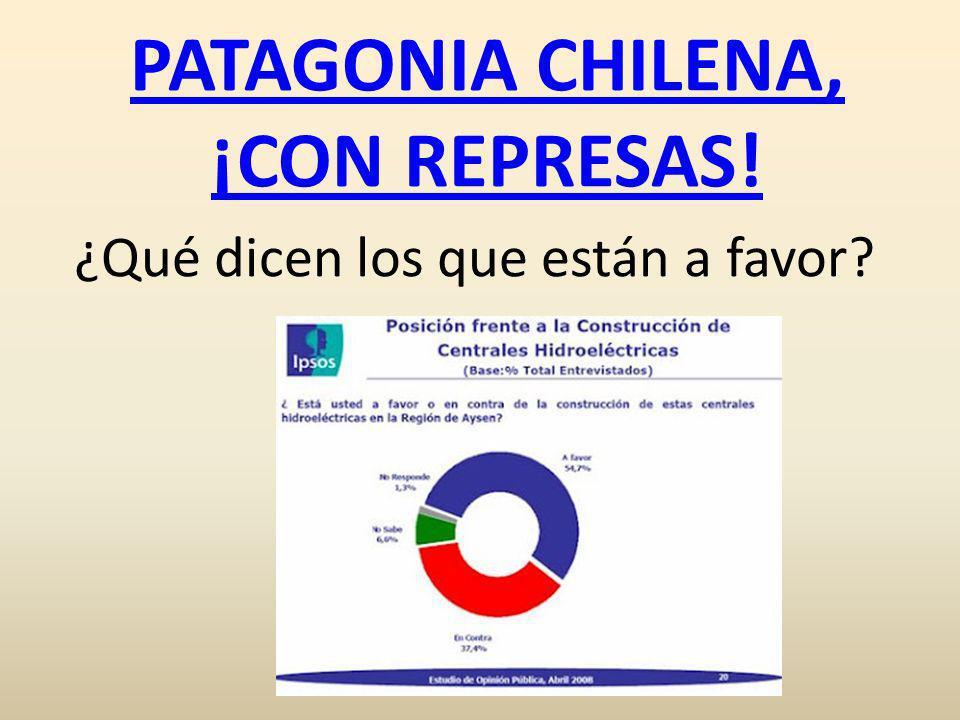 PATAGONIA CHILENA, ¡CON REPRESAS! ¿Qué dicen los que están a favor?