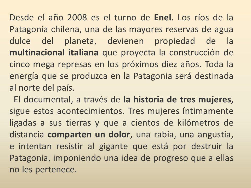 Desde el año 2008 es el turno de Enel. Los ríos de la Patagonia chilena, una de las mayores reservas de agua dulce del planeta, devienen propiedad de