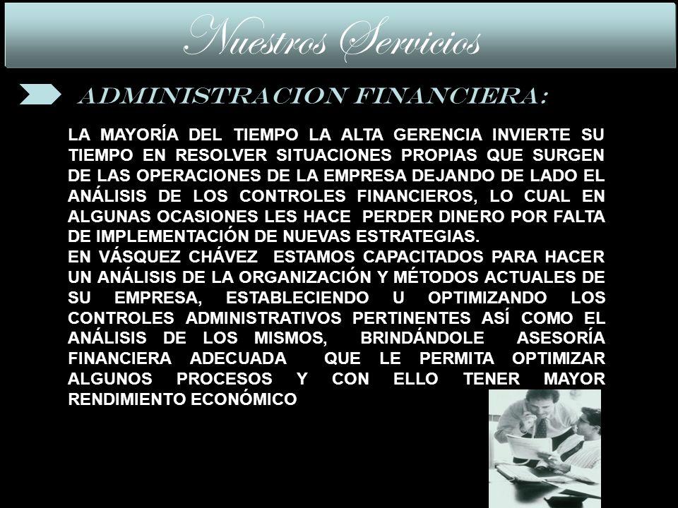 LA MAYORÍA DEL TIEMPO LA ALTA GERENCIA INVIERTE SU TIEMPO EN RESOLVER SITUACIONES PROPIAS QUE SURGEN DE LAS OPERACIONES DE LA EMPRESA DEJANDO DE LADO EL ANÁLISIS DE LOS CONTROLES FINANCIEROS, LO CUAL EN ALGUNAS OCASIONES LES HACE PERDER DINERO POR FALTA DE IMPLEMENTACIÓN DE NUEVAS ESTRATEGIAS.