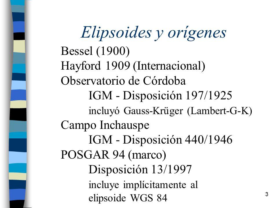 14 La altimetría 1971 Compensación de 74 polígonos - 27000 km alta precision - 24000 km precisión - correcciones mm