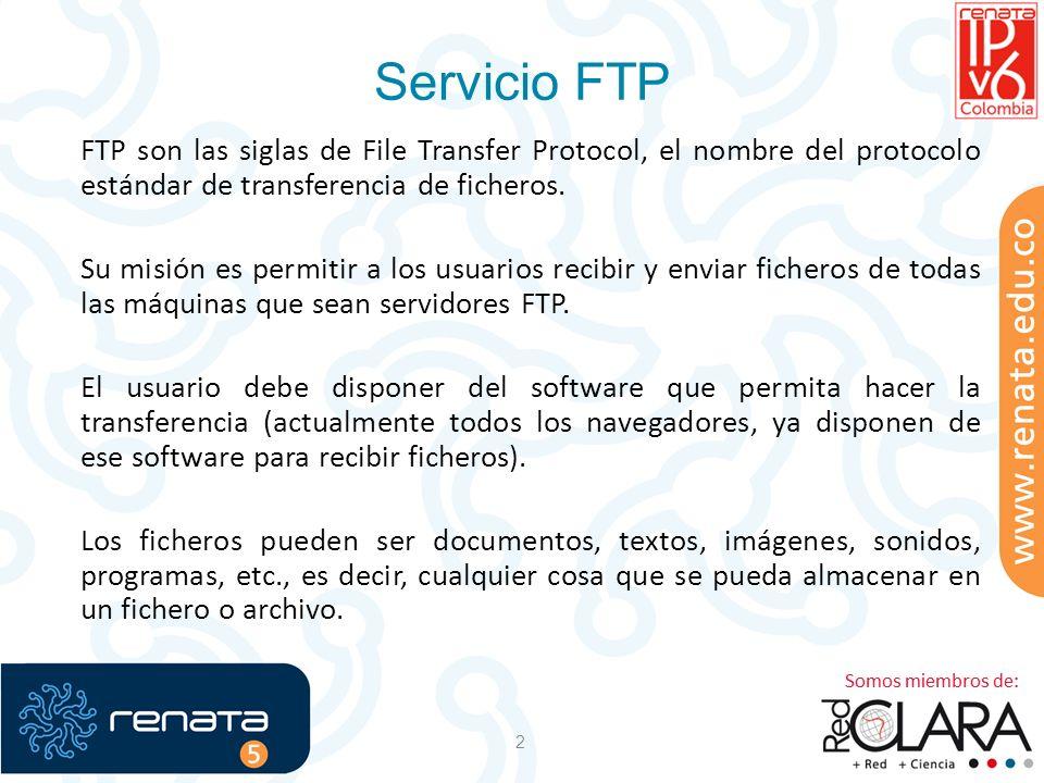 2 FTP son las siglas de File Transfer Protocol, el nombre del protocolo estándar de transferencia de ficheros. Su misión es permitir a los usuarios re