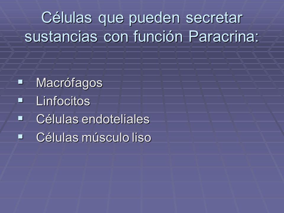MECANISMO HORMONAL AUTOCRINO Ocurre cuando la señal hormonal actúa sobre la misma célula que la produce.