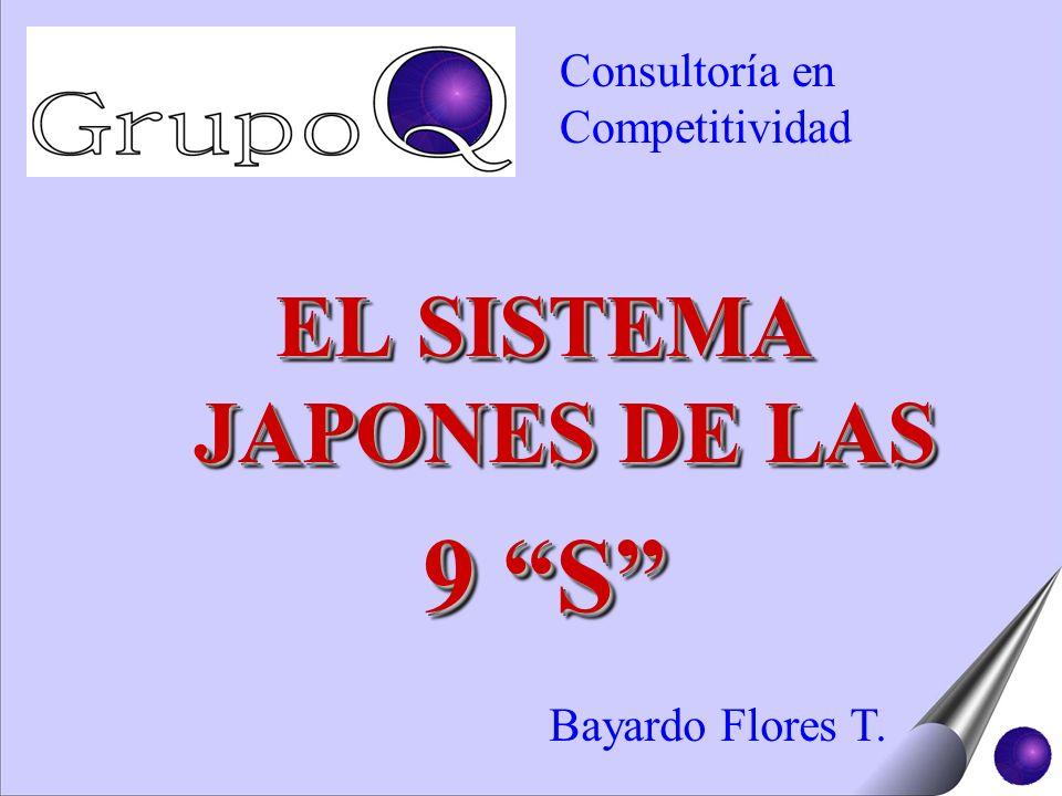 EL SISTEMA JAPONES DE LAS 9 S EL SISTEMA JAPONES DE LAS 9 S Bayardo Flores T. Consultoría en Competitividad