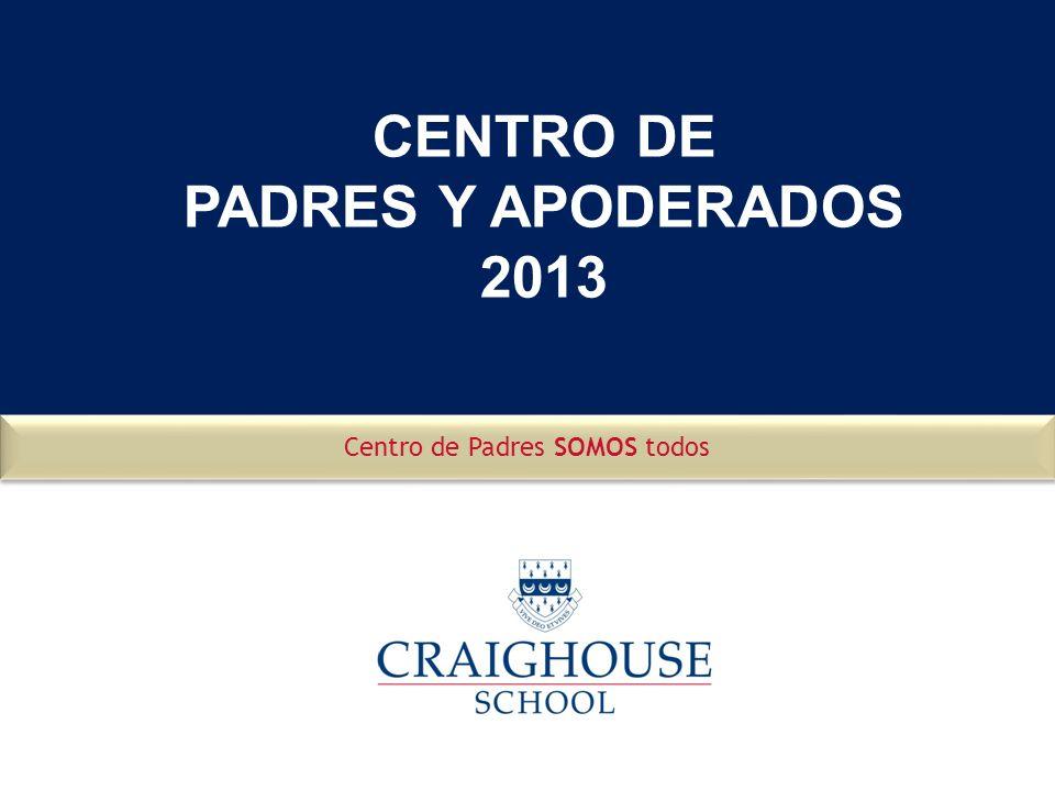 CENTRO DE PADRES Y APODERADOS 2013 Centro de Padres SOMOS todos