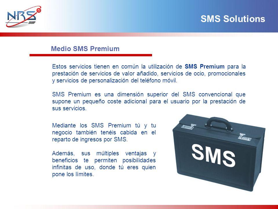 Estos servicios tienen en común la utilización de SMS Premium para la prestación de servicios de valor añadido, servicios de ocio, promocionales y ser