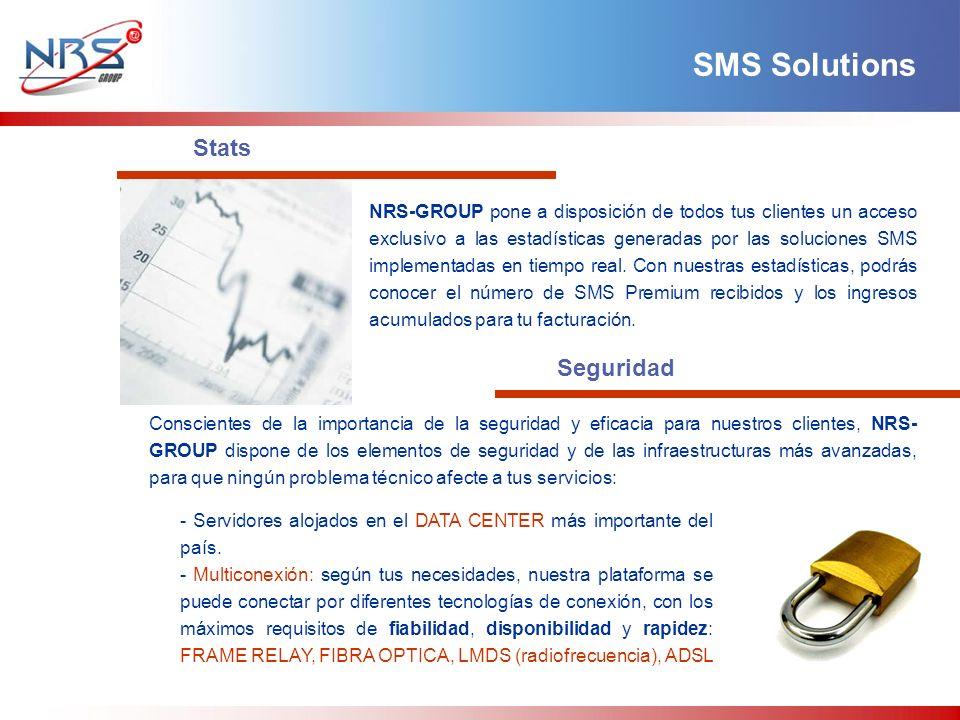 NRS-GROUP pone a disposición de todos tus clientes un acceso exclusivo a las estadísticas generadas por las soluciones SMS implementadas en tiempo real.