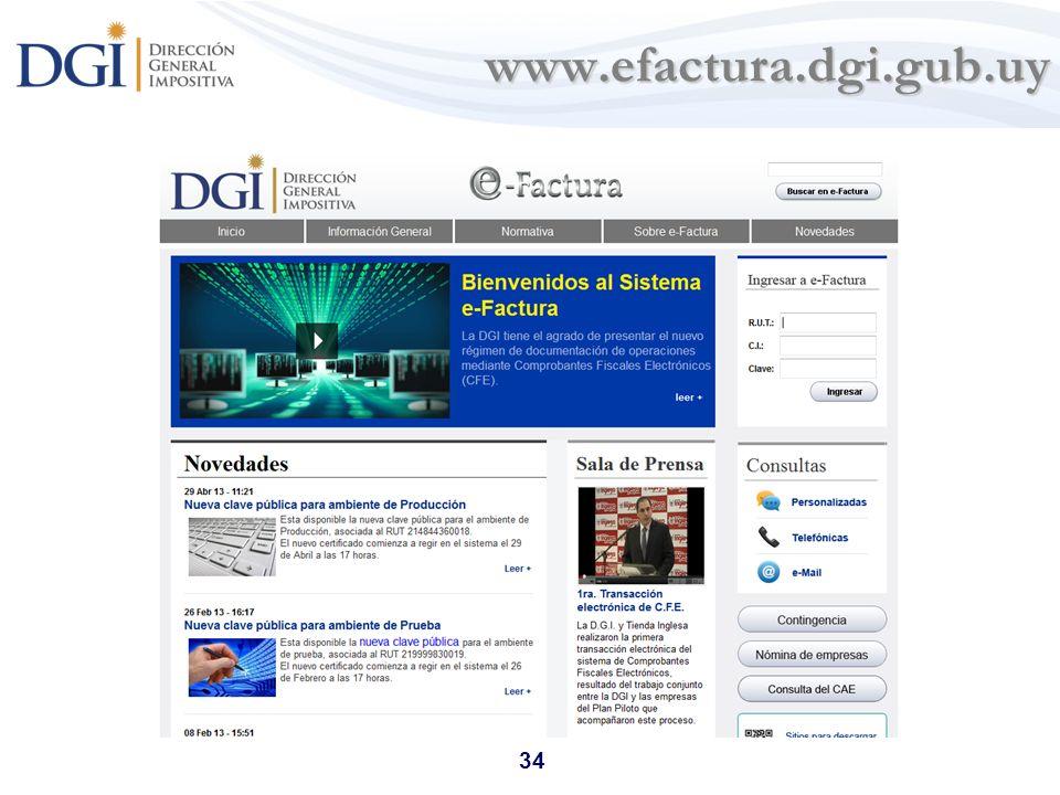 34 www.efactura.dgi.gub.uy www.efactura.dgi.gub.uy