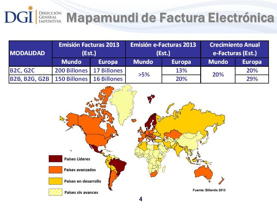 4 Mapamundi de Factura Electrónica