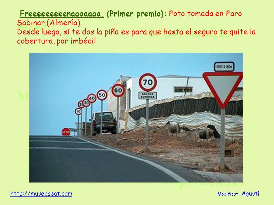 Freeeeeeeeenaaaaaaa. (Primer premio): Foto tomada en Faro Sabinar (Almería). Desde luego, si te das la piña es para que hasta el seguro te quite la co