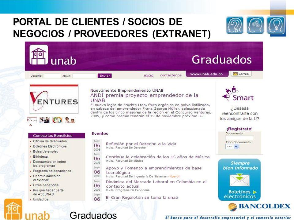 Graduados PORTAL DE CLIENTES / SOCIOS DE NEGOCIOS / PROVEEDORES (EXTRANET)