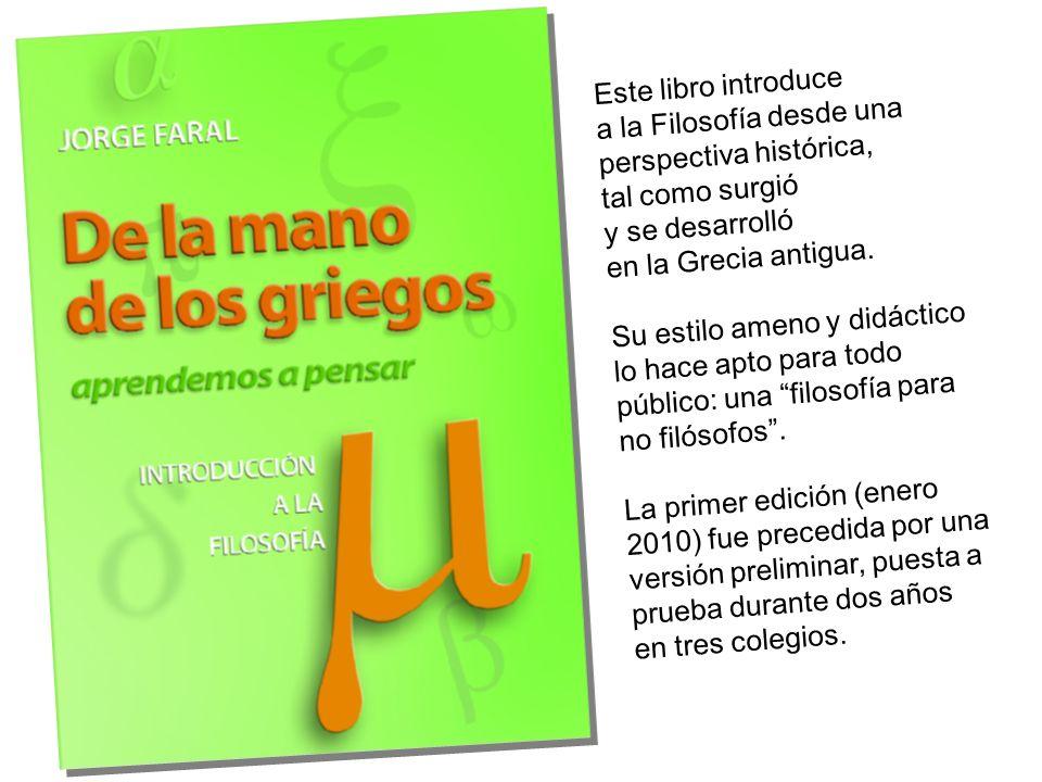 Sitio web (mapa) Libro Muestra Lanzamiento Folleto Erratas Locales de venta Recursos Biblioteca Lecciones Autor www.delamanodelosgriegos.com Ver web Con el tiempo, este sitio pretende llegar a ser la versión Web 2.0 del libro.