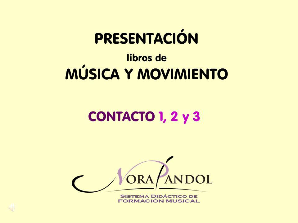 PRESENTACIÓN libros de MÚSICA Y MOVIMIENTO CONTACTO 1, 2 y 3