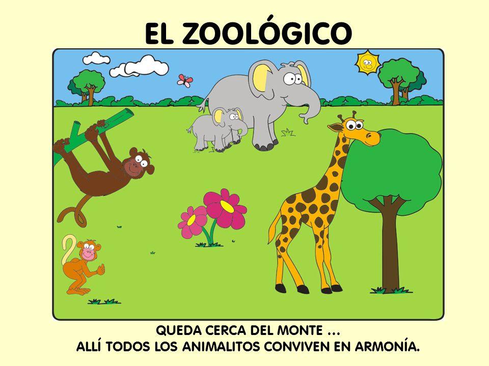 EL ZOOLÓGICO QUEDA CERCA DEL MONTE … ALLÍ TODOS LOS ANIMALITOS CONVIVEN EN ARMONÍA.