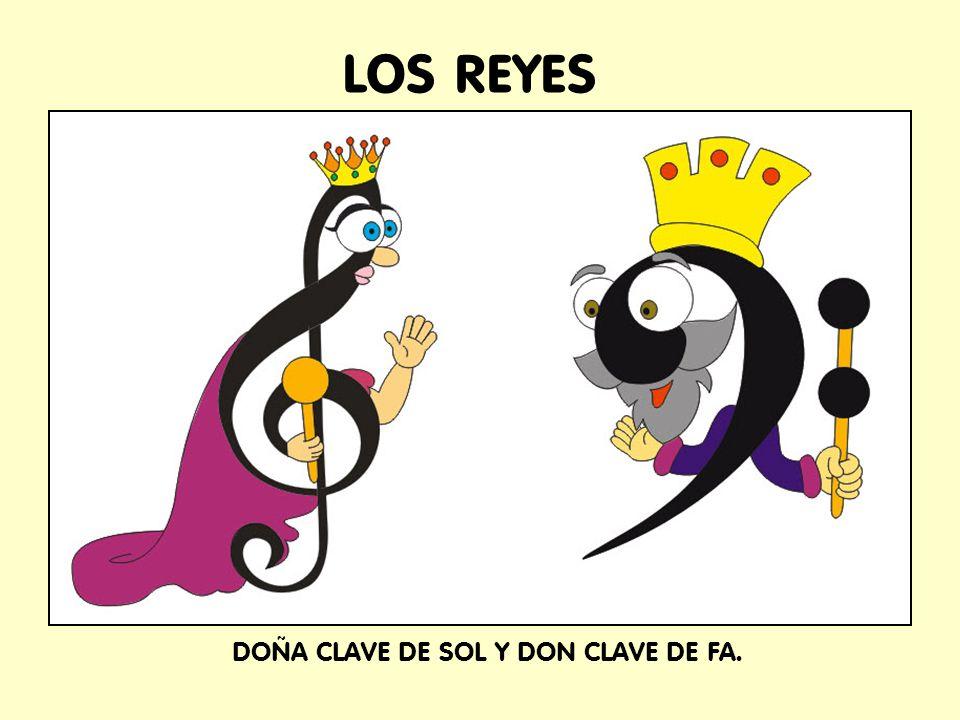 LOS REYES DOÑA CLAVE DE SOL Y DON CLAVE DE FA.