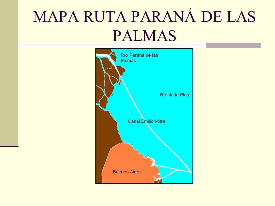 MAPA RUTA PARANÁ DE LAS PALMAS