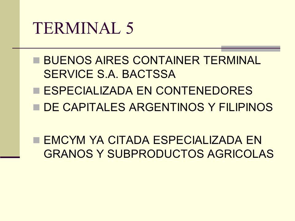 TERMINAL 5 BUENOS AIRES CONTAINER TERMINAL SERVICE S.A.