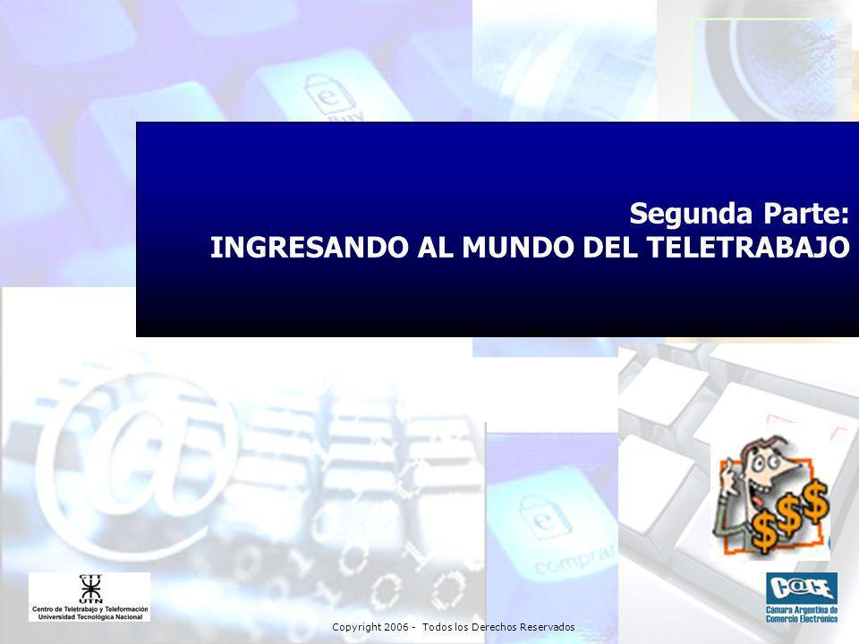 Copyright 2006 - Todos los Derechos Reservados Segunda Parte: INGRESANDO AL MUNDO DEL TELETRABAJO