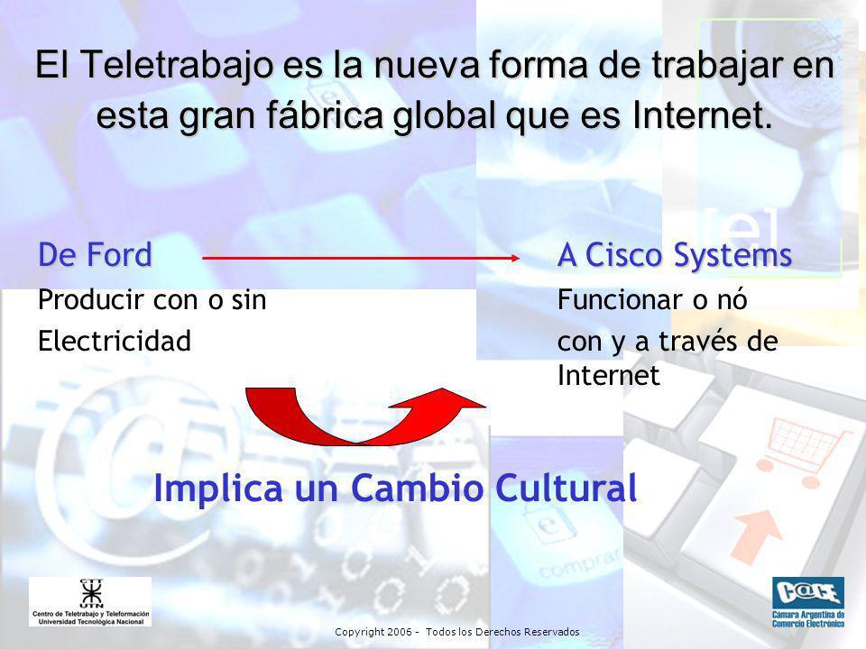 Copyright 2006 - Todos los Derechos Reservados El Teletrabajo es la nueva forma de trabajar en esta gran fábrica global que es Internet.