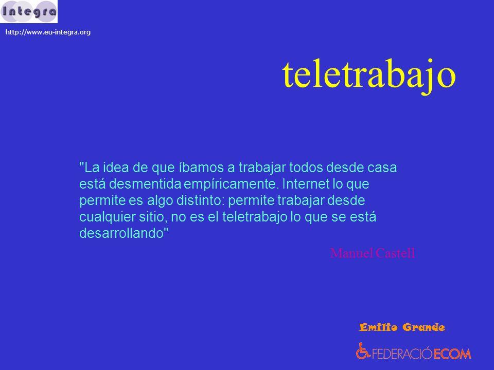 teletrabajo Ventajas: trabajador / a flexibilidad / autonomia romper con prejuicios / ¿esconder la discapacidad.