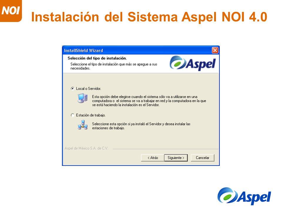 Instalación del Sistema Aspel NOI 4.0