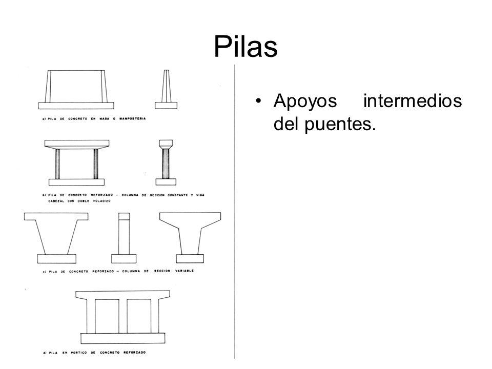 Pilas Apoyos intermedios del puentes.