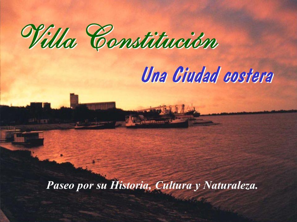 Retornando a la Ruta Provincial Nº 21 hacia el norte, nos dirigimos a la ciudad de Villa Constitución.