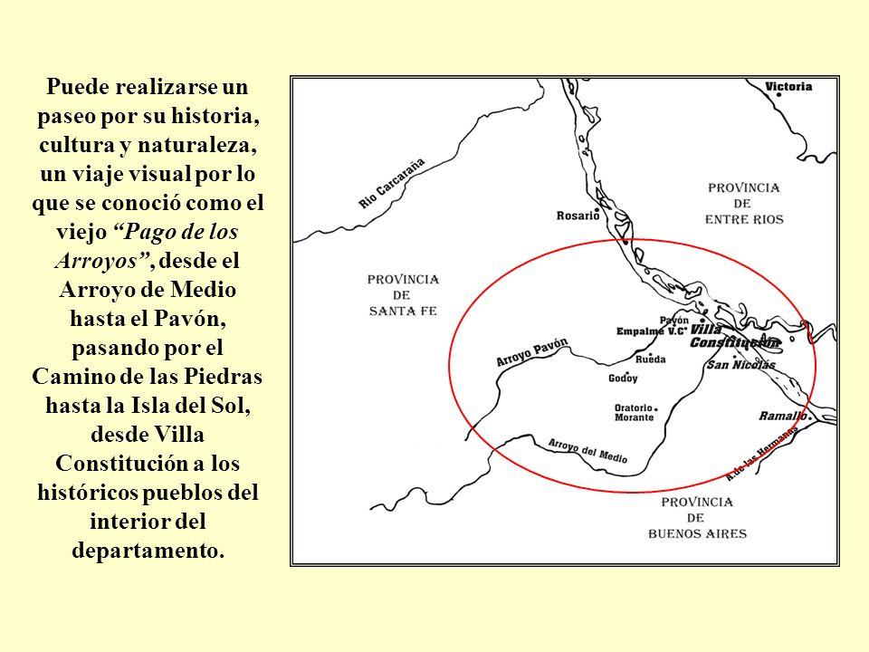 Puede realizarse un paseo por su historia, cultura y naturaleza, un viaje visual por lo que se conoció como el viejo Pago de los Arroyos, desde el Arr