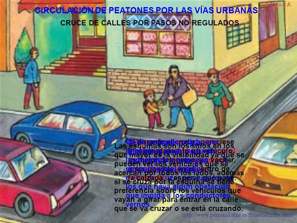 http://www.personal.able.es/fhuesca/index.html Los peatones en carretera deben circular por la izquierda, para que puedan ver de frente a los vehículos que se acerquen.
