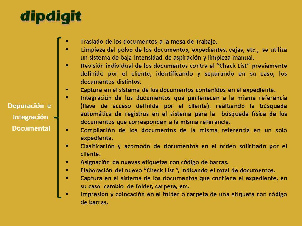 Depuración e Integración Documental Traslado de los documentos a la mesa de Trabajo.