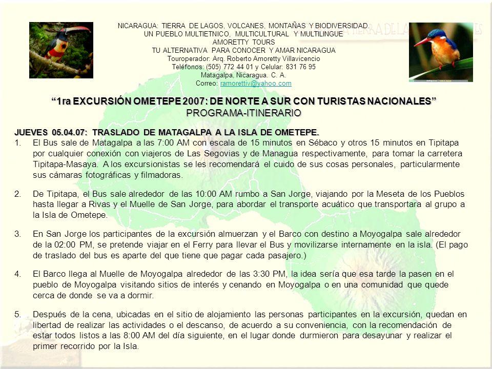 NICARAGUA: TIERRA DE LAGOS, VOLCANES, MONTAÑAS Y BIODIVERSIDAD.