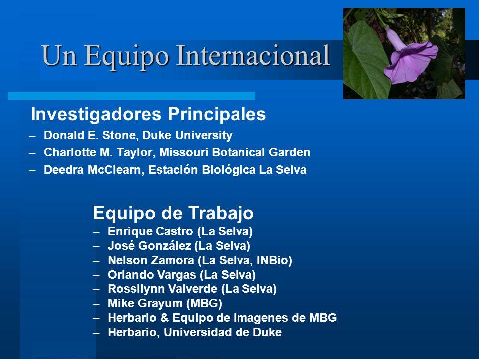Un Equipo Internacional Investigadores Principales –Donald E.