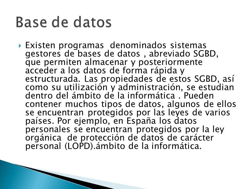 En base de datos, una consulta es el método para acceder a los datos en las bases de datos.