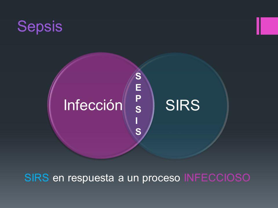 Sepsis InfecciónSIRS SIRS en respuesta a un proceso INFECCIOSO SEPSISSEPSIS