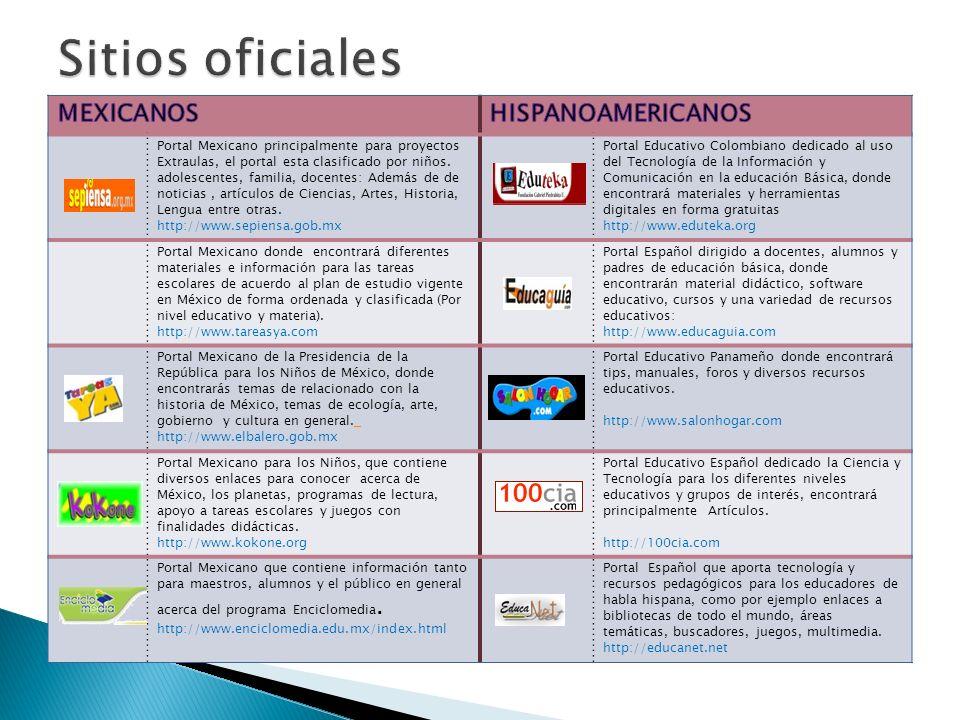 Portal Mexicano principalmente para proyectos Extraulas, el portal esta clasificado por niños. adolescentes, familia, docentes: Además de de noticias,