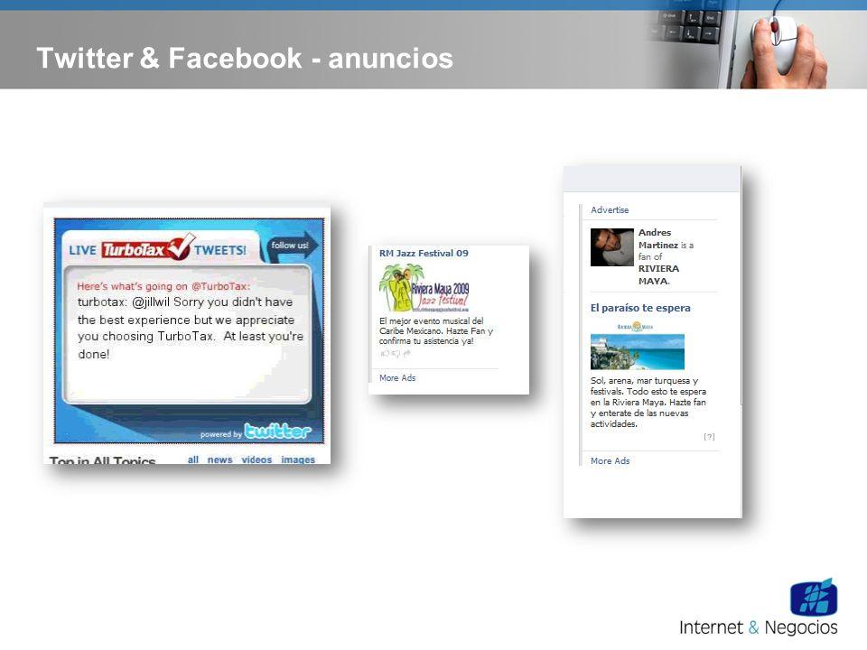 Twitter & Facebook - anuncios