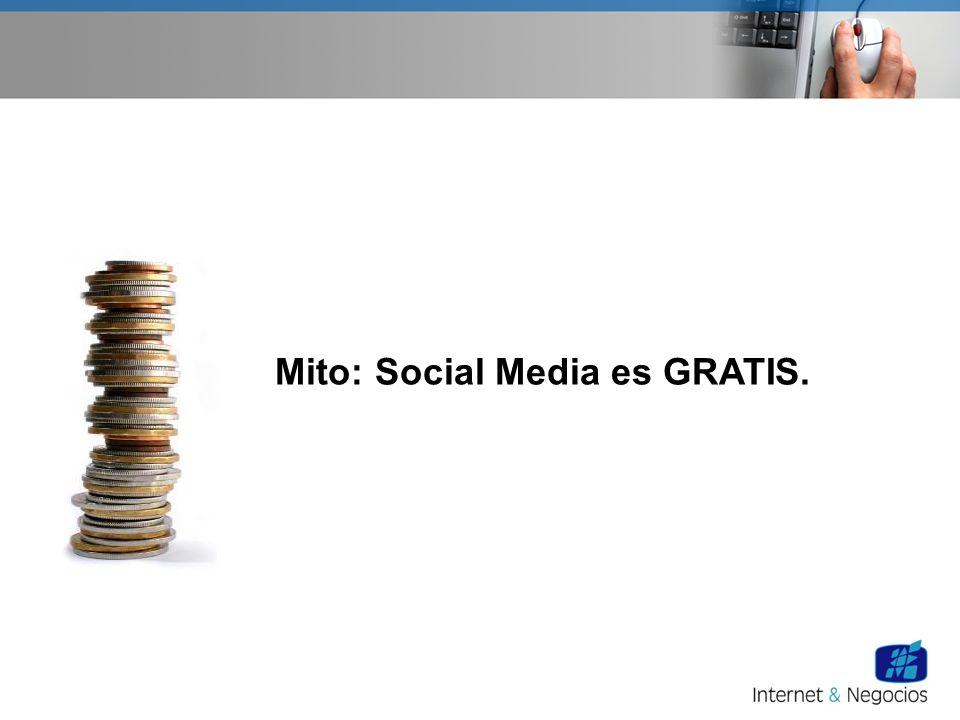 Mito: Social Media es GRATIS.
