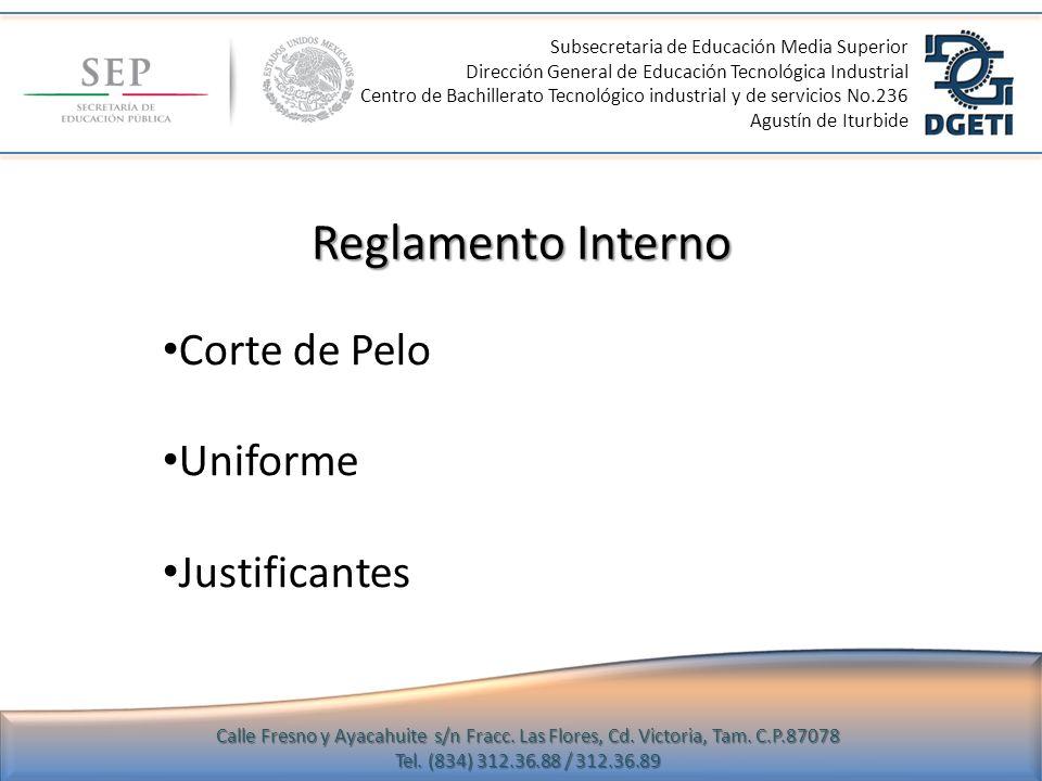 Subsecretaria de Educación Media Superior Dirección General de Educación Tecnológica Industrial Centro de Bachillerato Tecnológico industrial y de ser