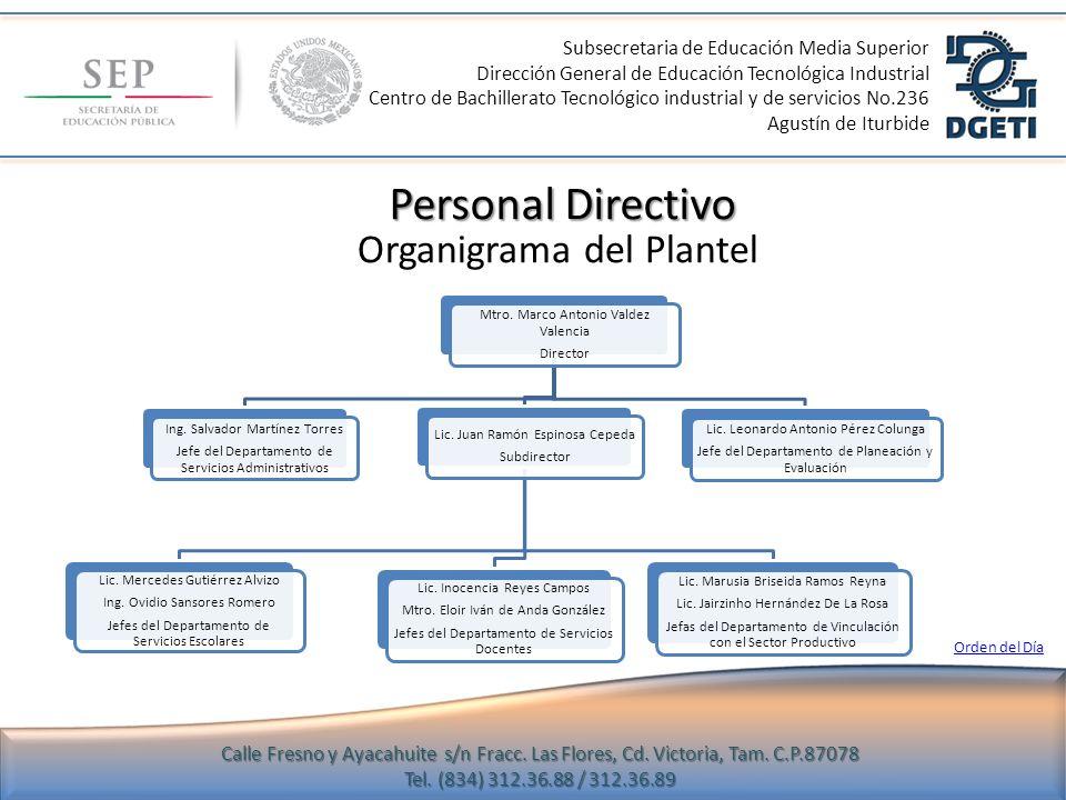 Subsecretaria de Educación Media Superior Dirección General de Educación Tecnológica Industrial Centro de Bachillerato Tecnológico industrial y de servicios No.236 Agustín de Iturbide Calle Fresno y Ayacahuite s/n Fracc.