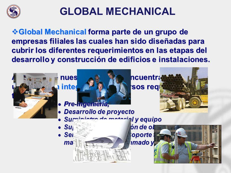 Actualmente nuestros clientes encuentran en Global una solución integral a sus diversos requerimientos tales como: Pre-ingeniería, Pre-ingeniería, Des