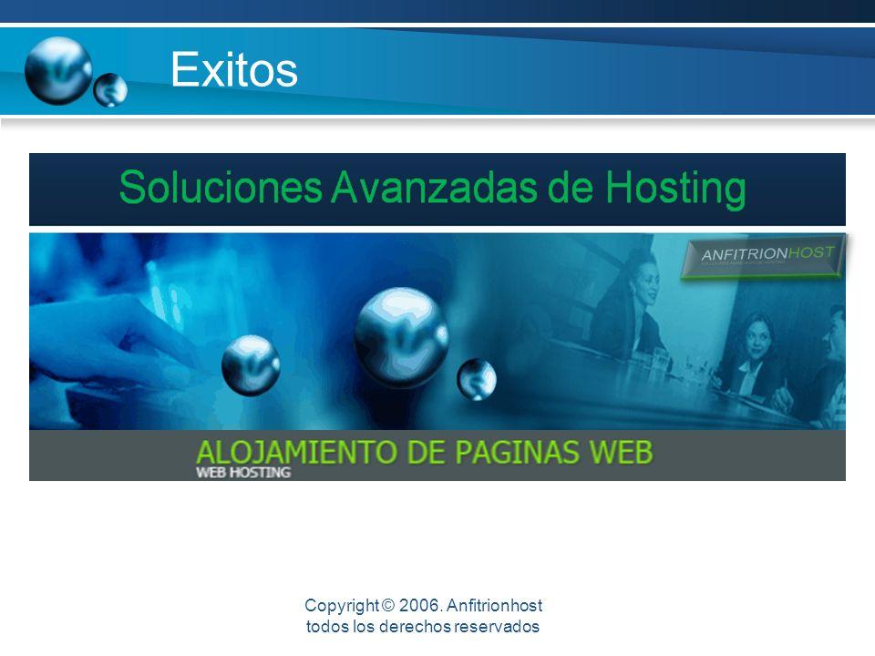 Exitos Mejor Rentabilidad Copyright © 2006. Anfitrionhost todos los derechos reservados