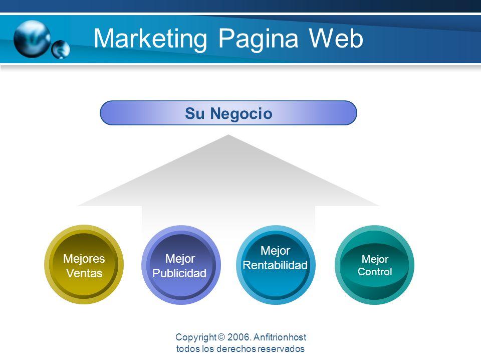 Marketing Pagina Web Mejor Control Su Negocio Mejores Ventas Mejor Rentabilidad Mejor Publicidad Copyright © 2006.