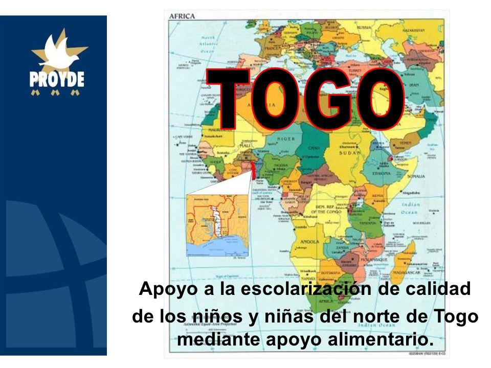 Apoyo a la escolarización de calidad de los niños y niñas del norte de Togo mediante apoyo alimentario.