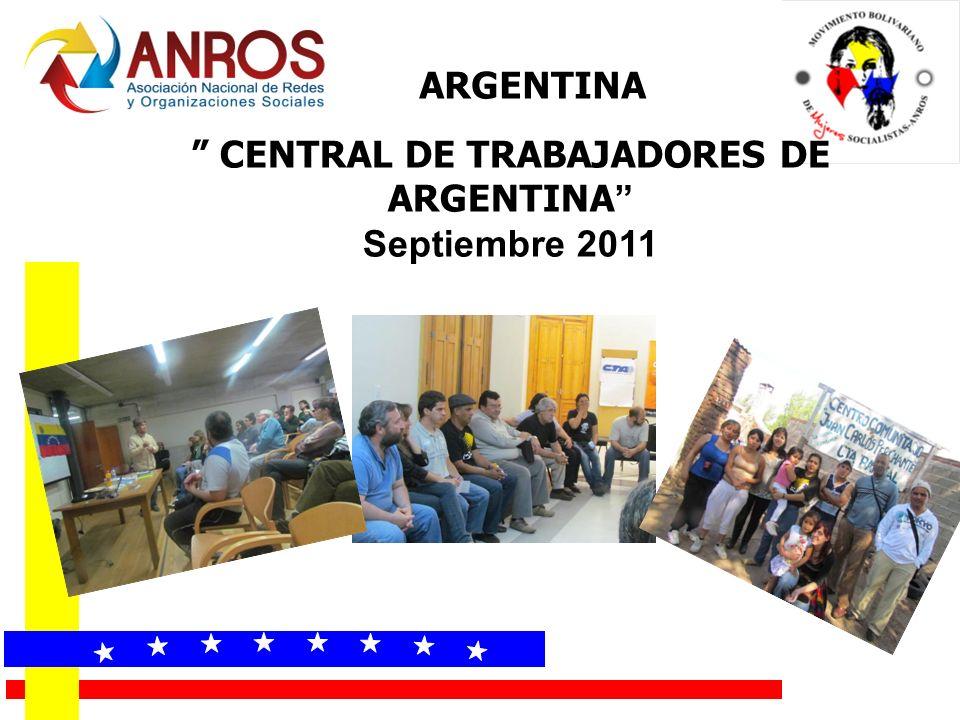 CENTRAL DE TRABAJADORES DE ARGENTINA Septiembre 2011 ARGENTINA