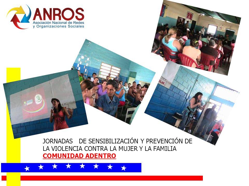 JORNADAS DE SENSIBILIZACIÓN Y PREVENCIÓN DE LA VIOLENCIA CONTRA LA MUJER Y LA FAMILIA COMUNIDAD ADENTRO