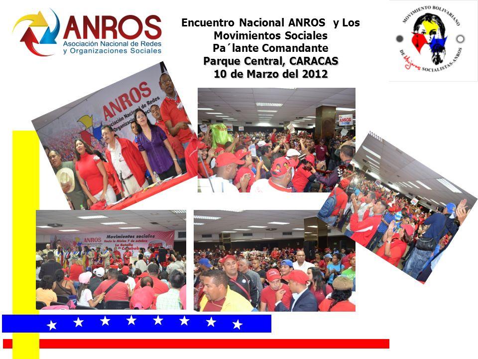 Encuentro Nacional ANROS y Los Movimientos Sociales Pa´lante Comandante Parque Central, CARACAS 10 de Marzo del 2012