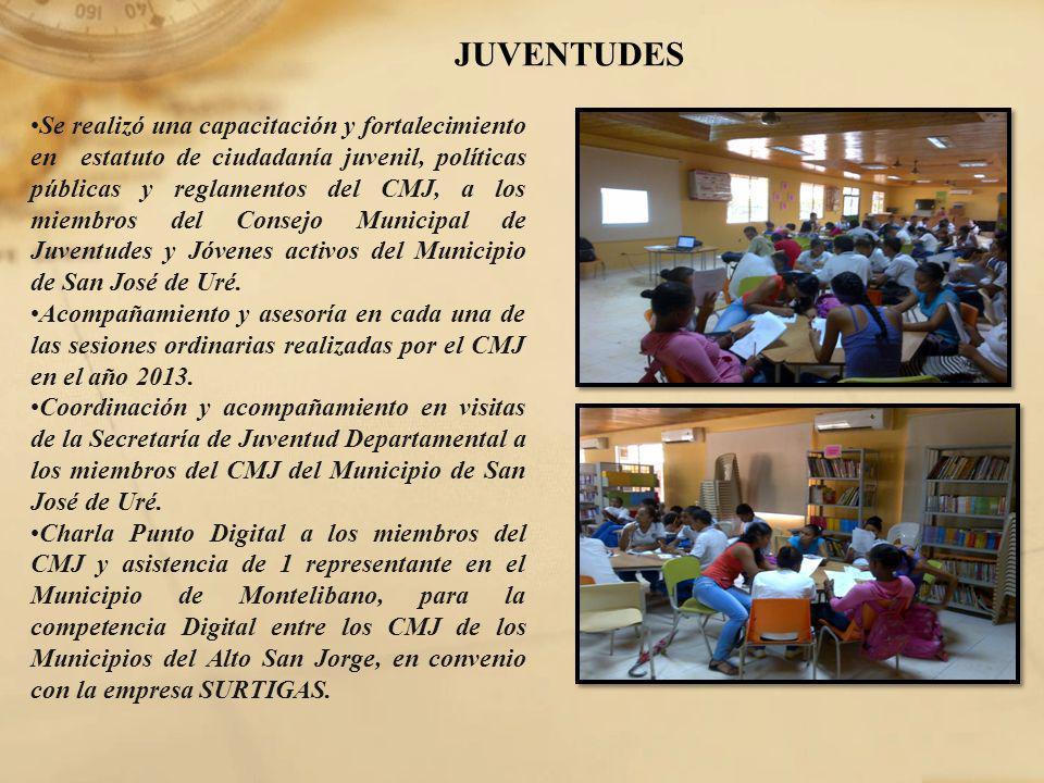 JUVENTUDES Se realizó una capacitación y fortalecimiento en estatuto de ciudadanía juvenil, políticas públicas y reglamentos del CMJ, a los miembros d